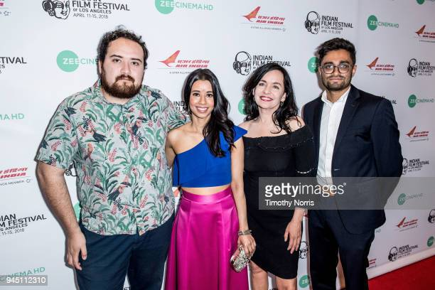 Carlos Aguilar Sujata Day Guinevere Turner and Aneesh Chaganty attend the 16th Annual Indian Film Festival Of Los Angeles opening night premiere of...