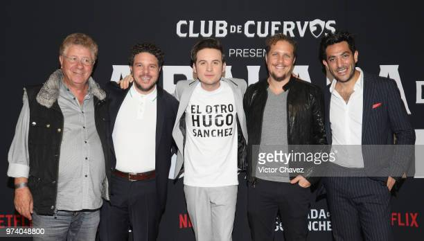 Carlos Alazraki Mark Alazraki Jesus Zavala Gas Alazraki and Moises Chiver attend Netflix 'La Balada de Hugo Sanchez' special screening at Alboa...