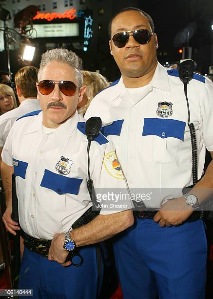 Carlos Alazraqui and Cedric Yarbrough during Reno 911 Miami Los Angeles Premiere Red Carpet at Grauman's Chinese Theater in Hollywood California...
