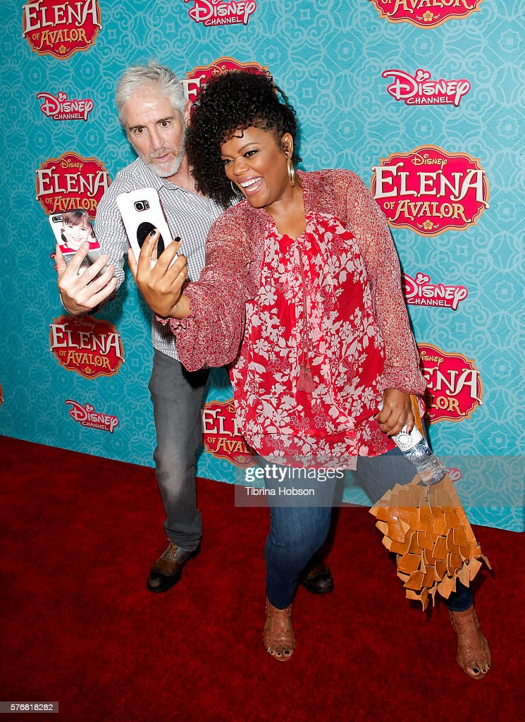 Carlos Alazraqui and Yvette Nicole Brown attend the screening of Disney Channel's 'Elena Of Avalor' at The Paley Center for Media on July 16, 2016 in Beverly Hills, California.
