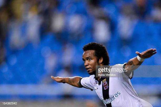 Carlos Alberto of Vasco celebrates a goal during a match between Botafogo and Vasco as part of the Brazilian Championship Serie A at Engenhao stadium...