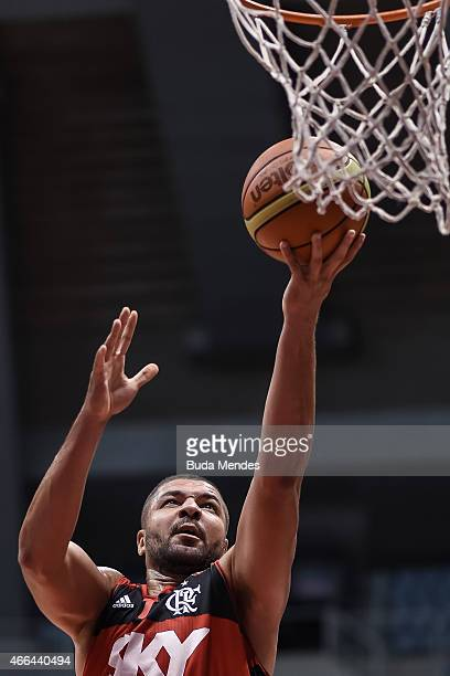 Carlos Alexandre Rodriguez of Flamengo in action during Final Four Liga de Las Americas FIBA 2015 Third Place Playoff match between Flamengo and...