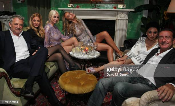 Carlos Almada guest Amanda Cronin Masha Markova Hanson Sheetal Mafatlal and Robert Hanson attend the 29 Lowndes store launch after party at...