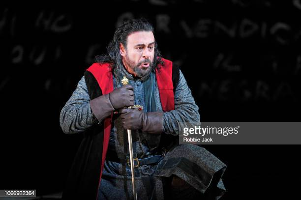 Carlos Alvarez as Simon Boccanegra in Giuseppe Verdi's Simon Boccanegra directed by Elijah Moshinsky and conducted by Henrik Nanasi at The Royal...