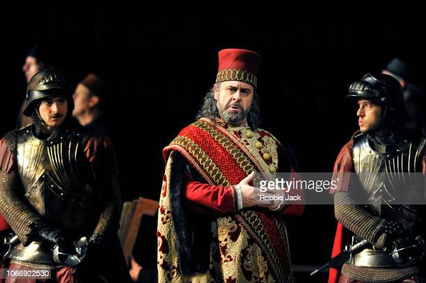 Carlos Alvarez as Simon Boccanegra with artists of the company in Giuseppe Verdi's Simon Boccanegra directed by Elijah Moshinsky and and conducted by...