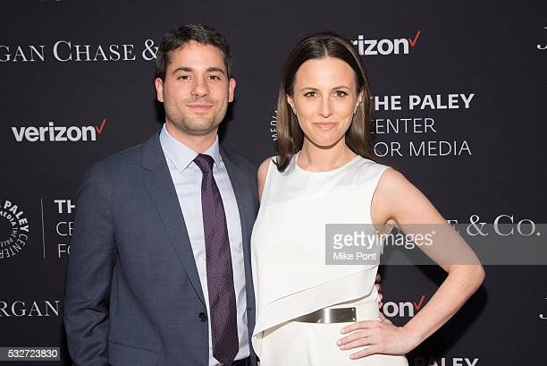 Carlos and Alicia Menendez attend the 2016 Paley Center for Media's Tribute To Hispanic Achievements In Television at Cipriani Wall Street on May 18...