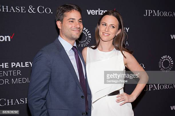 Carlos and Alicia Menendez attend The Paley Center for Media's Tribute To Hispanic Achievements in Television at Cipriani Wall Street on May 18 2016...