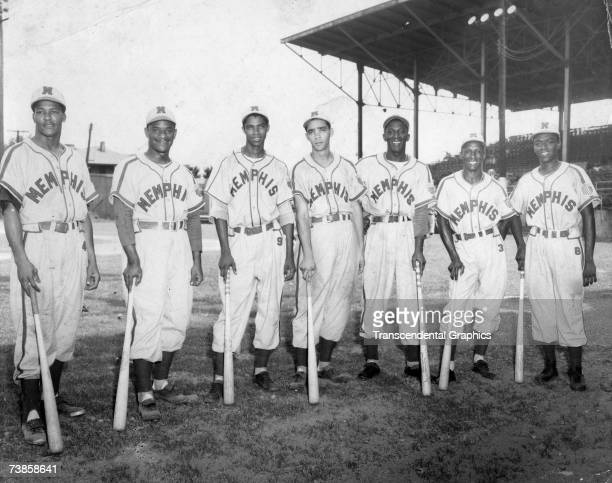 Carlos and Luis Colas are among the Cuban professionals playing on the Negro League Memphis Red Sox posing in this photo from 1950