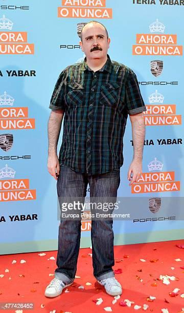 Carlos Areces attends 'Ahora o Nunca' premiere on June 16 2015 in Madrid Spain
