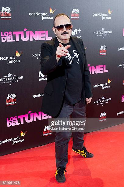 Carlos Areces attends 'Los Del Tunel' premiere during the Madrid Premiere Week at Callao Cinema on November 21 2016 in Madrid Spain
