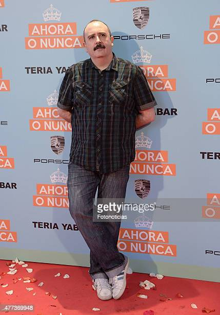 Carlos Areces attends the 'Ahora o Nunca' premiere at Capitol Cinema on June 16 2015 in Madrid Spain