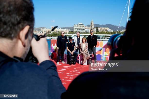 Carlos Areces director Santi Amodeo Oscar Martinez Ingrid GarciaJonsson and producer Daniel Perez Astiarraga attend 'Yo Mi Mujer y Mi Mujer Muerta'...
