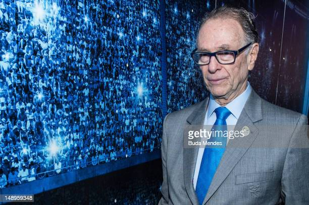 Carlos Arthur Nuzman, President of Rio 2016 and the Brazilian Olympic Committee attends the inauguration of Casa Brasil's free Brazilian contemporary...