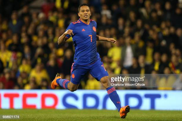 Carlos Bacca of Colombia during the International Friendly match between Australia and Colombia at Craven Cottage on March 27 2018 in London England