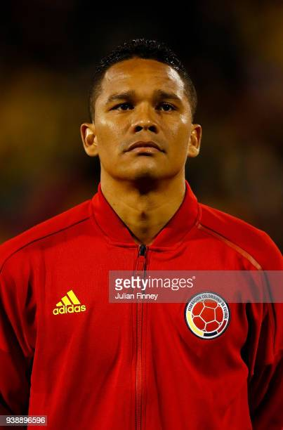 Carlos Bacca of Colombia looks on during the International Friendly match between Australia and Colombia at Craven Cottage on March 27 2018 in London...