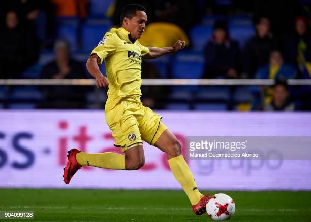 Carlos Bacca of Villarreal in action during the Copa del Rey Round of 16 second Leg match between Villarreal CF and Leganes at Estadio de La Ceramica...