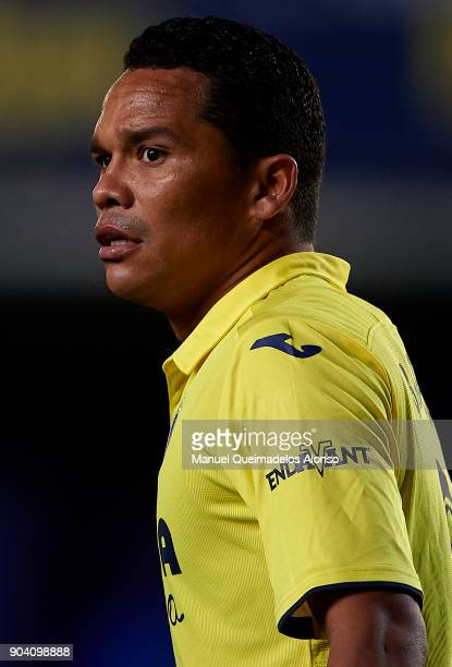Carlos Bacca of Villarreal looks on during the Copa del Rey Round of 16 second Leg match between Villarreal CF and Leganes at Estadio de La Ceramica...