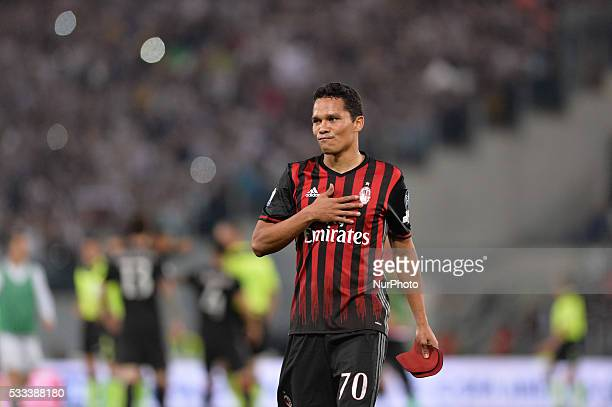 Carlos Bacca sad during Tim Cup Final football match FC Juventus vs AC Milan at the Olympic Stadium in Rome on May 21 2016