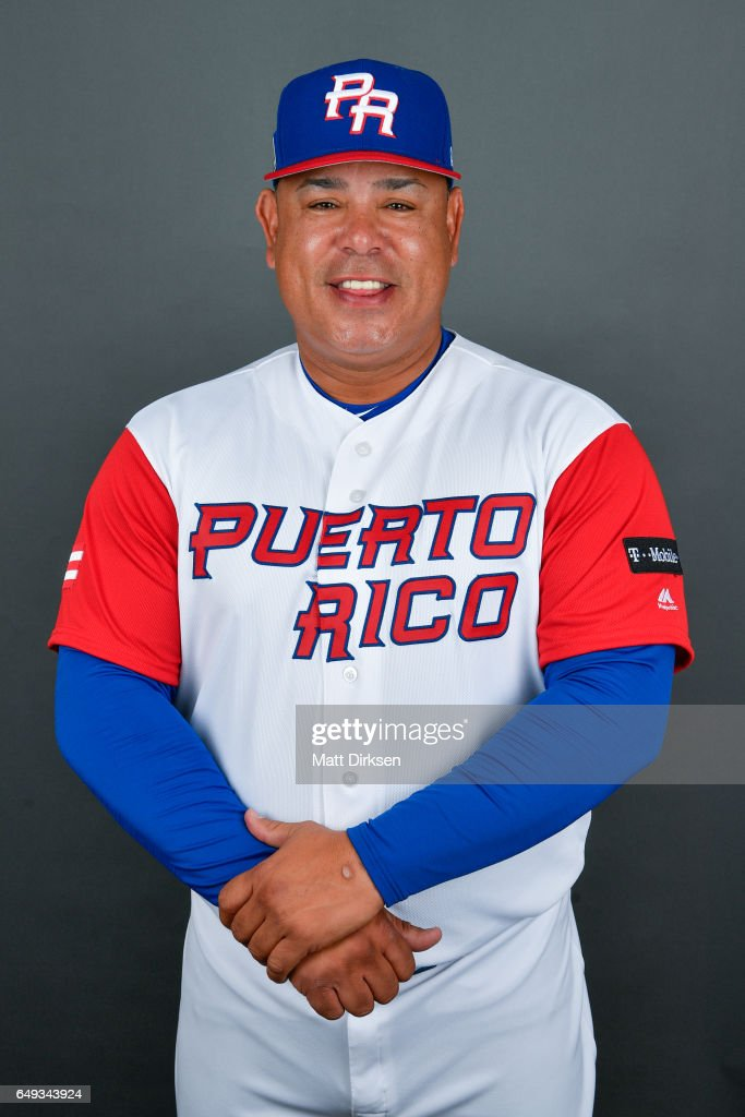 Carlos Baerga #99 of Team Puerto Rico poses for a headshot for Pool D of the 2017 World Baseball Classic on Tuesday, March 7, 2017 at Salt River Fields at Talking Stick in Scottsdale, Arizona.