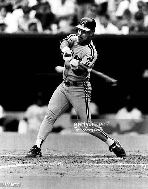 Carlos Baerga of the Cleveland Indians bats circa 1999