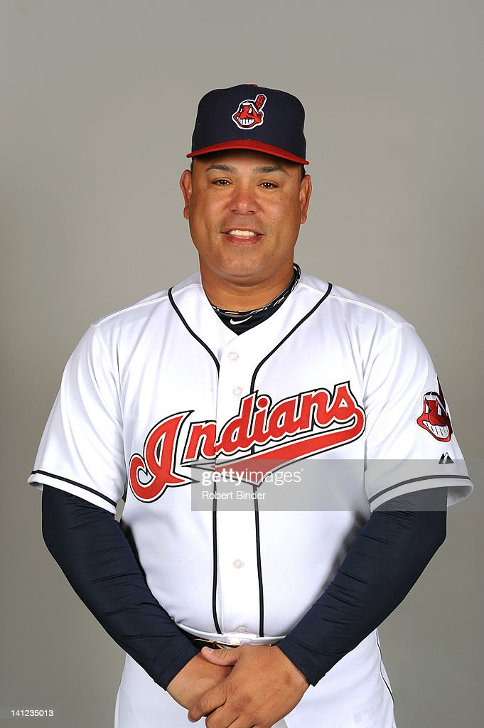 Carlos Baerga of the Cleveland Indians poses during portrait session on February 29, 2012 in Glendale , Arizona.