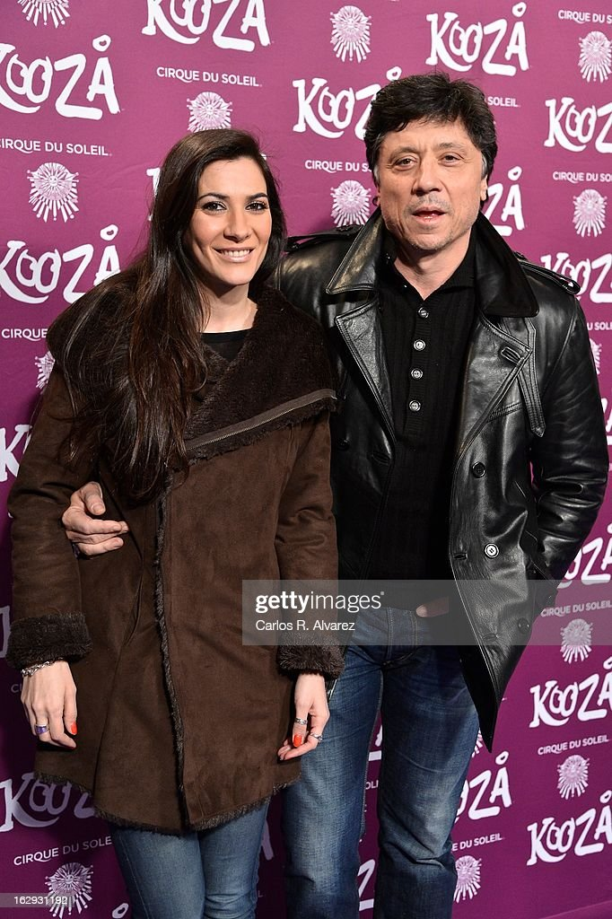Carlos Bardem (R) and Cecilia Gessa attend 'Cirque Du Soleil' Kooza 2013 premiere on March 1, 2013 in Madrid, Spain.