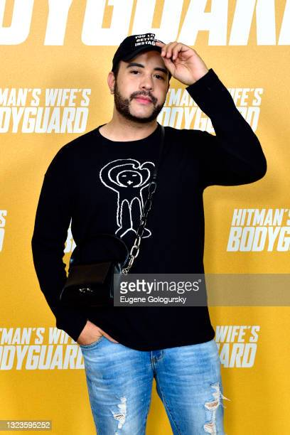 """Carlos Battle attends the """"Hitman's Wife's Bodyguard"""" special screening at Crosby Street Hotel on June 14, 2021 in New York City."""