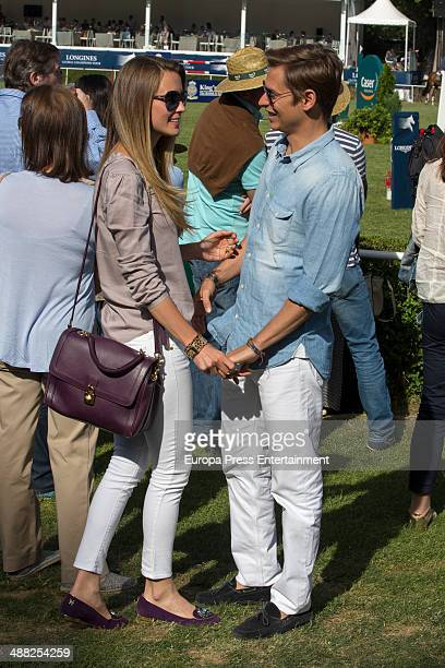 Carlos Baute and Astrid Klisans attend Global Champion Tour Day 3 on May 4 2014 in Madrid Spain