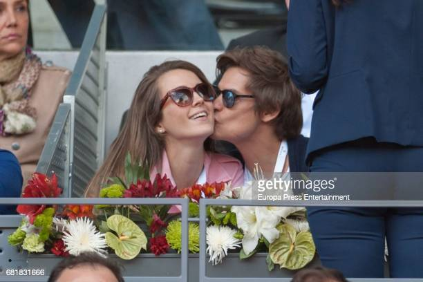 Carlos Baute and Astrid Klisans attend Mutua Madrid Open tennis at La Caja Magica on May 10 2017 in Madrid Spain