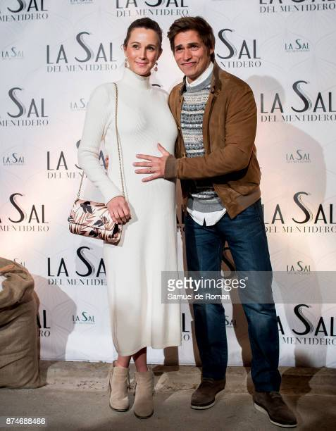 Carlos Baute and Astrid Klisans during 'La Sal Del Mentidero' Inauguration on November 15 2017 in Madrid Spain
