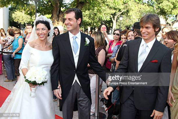 Carlos Baute attends the wedding of Manuel Colonques, son of the president of Porcelanosa company and Cristina Babiloni on June 11, 2010 in Castellon...