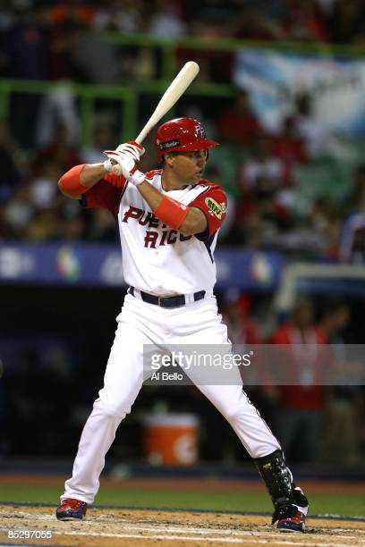 Carlos Beltran of Puerto Rico in action against Panama during the 2009 World Baseball Classic Pool D match on March 7, 2009 at Hiram Bithorn Stadium...