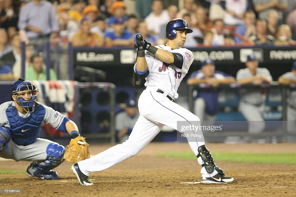 Carlos Beltran Of The New York Mets Batting During The