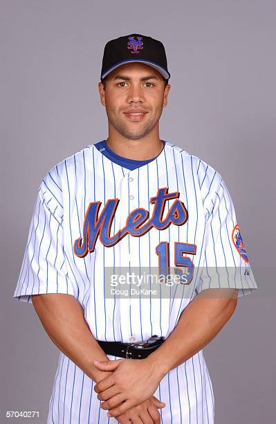Carlos Beltran of the New York Mets during photo day at Mets Stadium on February 24 2006 in Port St Lucie Florida