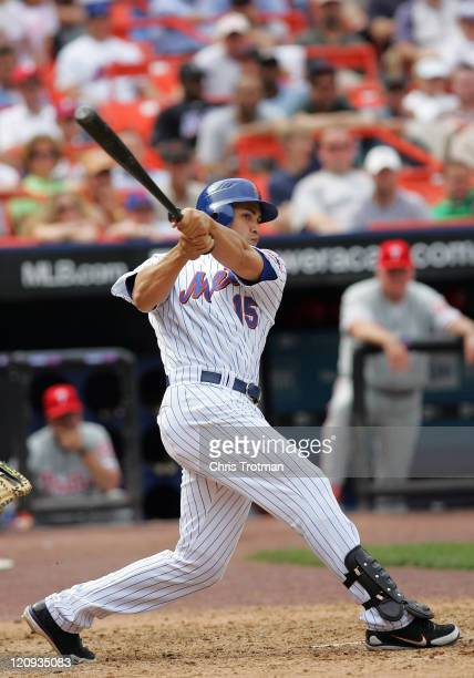Carlos Beltran of the New York Mets in action against the Philadelphia Flyers at Shea Stadium on May 25 2006 in Flushing New York The Phillies...