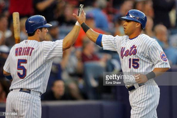 Carlos Beltran Of The New York Mets Is Greeted By David