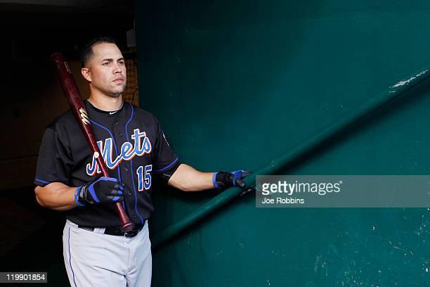 Carlos Beltran of the New York Mets looks on before the game against the Cincinnati Reds at Great American Ball Park on July 26 2011 in Cincinnati...