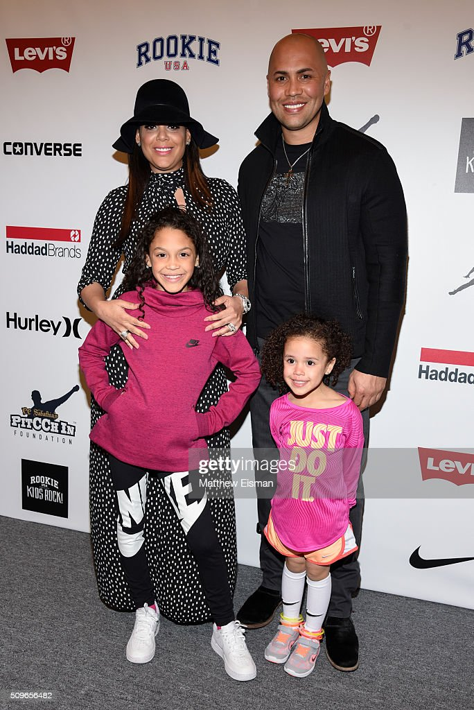 Carlos Beltran Of The New York Yankees And His Family Attend