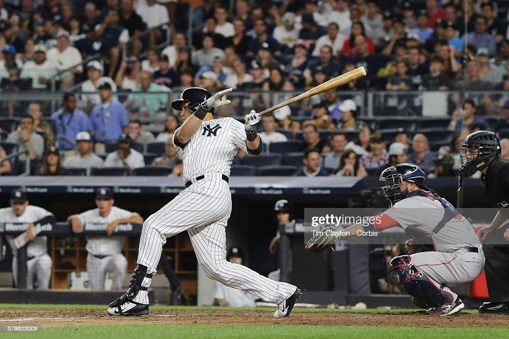 Carlos Beltran Of The New York Yankees Batting During The