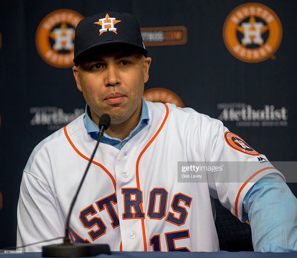 Carlos Beltran Speaks To Media During A Press Conference