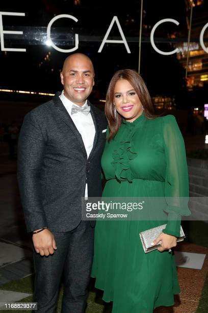 Carlos Beltrán and Jessica Lugo attend The LegaCCy Gala at The Shed on September 16 2019 in New York City