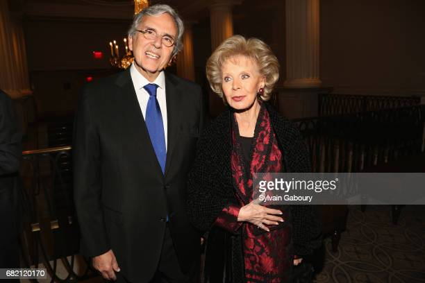 Carlos Benaim and Lily Safra attend Mrs Lily Safra Honored at ISEF Foundation's 40th Anniversary at Intercontinental New York Barclay on May 11 2017...