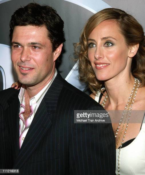 Carlos Bernard and Kim Raver during '24' 100th Episode and Fifth Season Premiere Party Arrivals at Cabana Club in Hollywood California United States