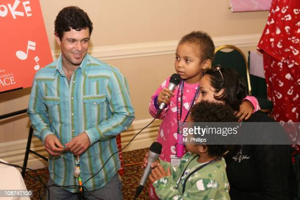 Carlos Bernard during The Children's Place Pajama Party to Benefit the AZ CA NV Chapter of Starlight Starbright Children's Foundation at Embassy...