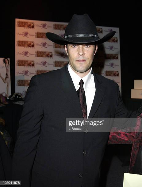 Carlos Bernard with Stetson during Ninth Annual Screen Actors Guild Awards Backstage Creations Talent Retreat in Los Angeles California United States
