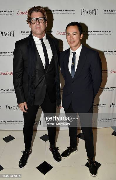 Carlos Betancourt and Alberto Latorre attend The Andy Warhol Museum's Annual NYC Dinner at Indochine on November 12 2018 in New York City