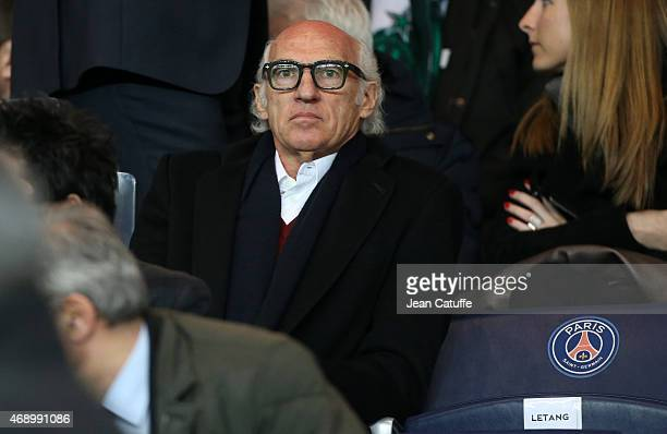 Carlos Bianchi attends the French Cup semifinal match between Paris SaintGermain FC and AS SaintEtienne at Parc des Princes stadium on April 8 2015...