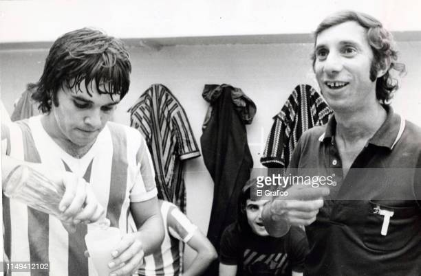Carlos Bilardo coach of Estudiantes smiles after a match on February 19 1975 in La Plata Argentina