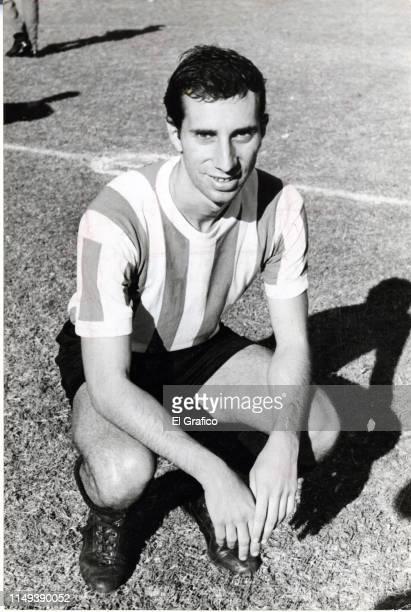Carlos Bilardo of Estudiantes poses before a match against Boca Juniors on April 10 1966 in La Plata Argentina