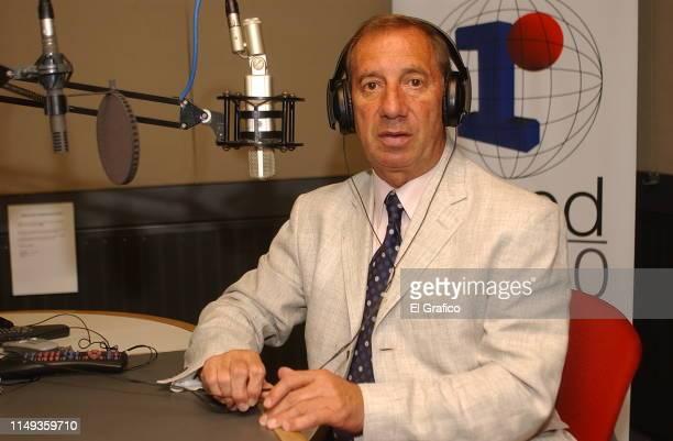 Carlos Bilardo poses during a private photo session for El Gráfico magazine on January 30 2006 in Buenos Aires Argentina